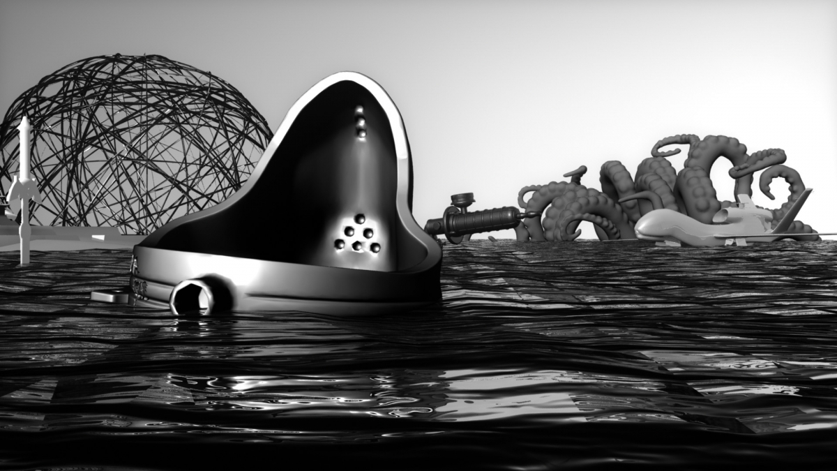 Morehshin Allahyari and Daniel Rourke, The 3D Additivist Manifesto with sound design by Andrea Young, 2015